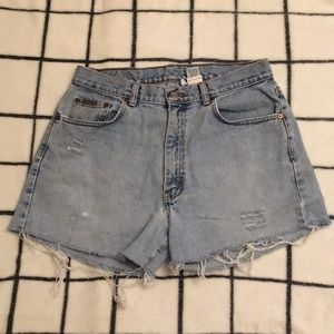 Calvin Klein Vintage Distressed Cut Off Shorts